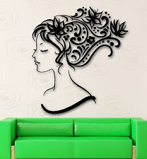 Vinyl Wall Decal Beautiful Abstract Hair Beauty Salon Stylist Stickers (ig341)