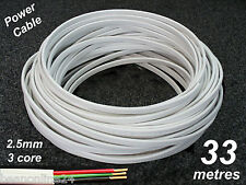 33m roll electrical cable flat 2.5sq mm 3 core (2C+E) wire for power circuits