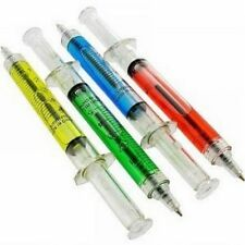 (4) Syringe Pens Doctor Nurse Medical Dental Hospital - Ball Point Novelty Pens