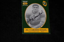 AL CARMICHAEL GREEN BAY PACKERS HALL OF FAME SIGNED AUTOGRAPHED CARD