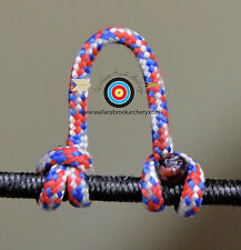 2 Pack Red/White/Blue Release Bow String Nock D Loop Bowstring, Brownell