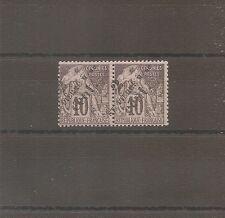 TIMBRE SPM SAINT PIERRE ET MIQUELON FRANKREICH 1891 PAIRE N°38 NEUF* MH VARIETE