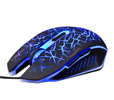 UK 7D 2400DPI AZZOR The Phantom Glare 6 Buttons Gaming Mouse WOW RAZER LOL MMO