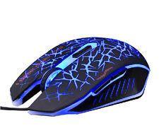 Reino Unido 7d 2400dpi azzor el Phantom resplandor 6 Botones Gaming Mouse Wow Razer Lol Mmo