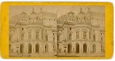 Vue stéréo photo  Opéra GARNIER vu de côté PARIS 1880