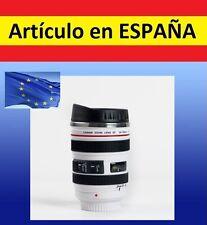 TAZA BLANCA con forma OBJETIVO CAMARA reflex canon gadget cafe te EF24-105mm