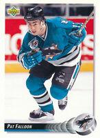 Pat Falloon 1992-93 Upper Deck #286 San Jose Sharks hockey Card