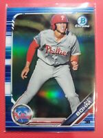 Alec Bohm 2019 Bowman Chrome #BDC162⚾⚾⚾Blue Refractor /150⚾⚾⚾Phillies⚾⚾TPG