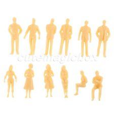 1:50 Scale Train Scenery DIY Plastic Skin Color Model Train People Figures 50pcs