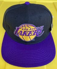 NWT Vintage 90s Los Angeles Lakers Starter 100% Wool White Tag Snapback Hat Cap