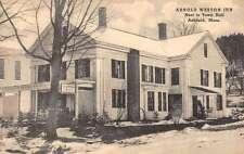 Ashfield Massachusetts Arnold Weston Inn Street View Antique Postcard K53890