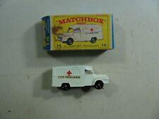 867| Matchbox Nr 14 LOMAS Ambulance / Krankenwagen in OVP