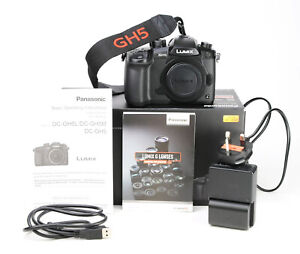 Panasonic Lumix GH5 Camera Body Only Boxed - Battery & Charger 631 Shots - EXC