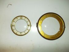 Two antique mantle or wall Clock Bezels