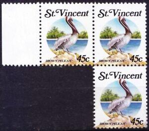 St. Vincent 1988 MNH Lot No gum, Brown Pelican, Water Birds