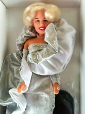"Marilyn Monroe 12"" Doll Silver Gown Diamond with Coa 1993 Dsi"" Vinyl New Vintage"