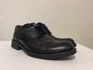 Men's BELLISSIMO Black Leather Brogues Lace up Shoes UK 6 EU 40 VGC