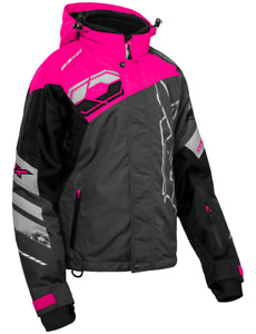 Castle X Women's Code Charcoal.Pink Glo.Black.Silver Jacket Large