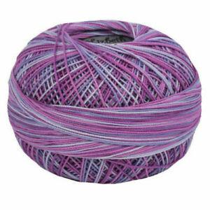 Lizbeth Egyptian Cotton Crochet Thread Size 20 Color 165 Grape Splash