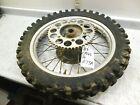 1989 honda cr125 complete back rear wheel rim assembly tire spokes 1989