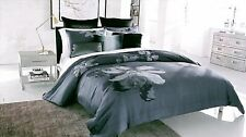 KENNETH COLE~ETCHED FLORAL~EURO PILLOW SHAM~MIDNIGHT