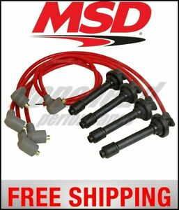 MSD Ignition 8.5mm Spark Plug Wire Set 1999-2000 Honda Civic Si B16A2 VTEC