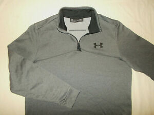 UNDER ARMOUR COLD GEAR 1/4 ZIP LONG SLEEVE GRAY PULLOVER MENS MEDIUM EXCELLENT