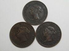 VF 3 Year Run Victoria - Canada Large Cents. 1899, 1900, 1901.  #34