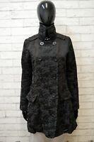 Cappotto Donna Desigual Taglia 38 Giacca Giaccone Cotone Giubbotto Jacket Woman