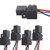 5 X Car 12V 20A/30A Relay & Socket For Electric Fan Fuel Pump Horn Kit 5P 5 Wire