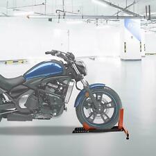 Front Wheel Chock Adjustable Motorcycle Wheel Locking Stand Holder Heavy Duty