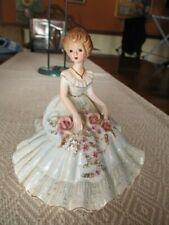 Vintage Josef Originals Girl Figurine - Blue Dress Sitting