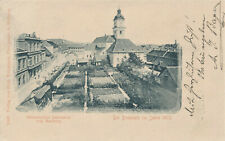 Marburg Drau Maribor Slovenia MARIBORU Domplatz 1875 Gärten Häuser 1899 Marke