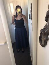 Gorgeous Summer Skirt Size 22 Very Slimming Navy Blue Skirt