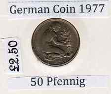 German 50 Pfennig  circulated  (1977-G)