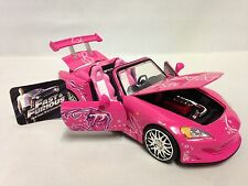 "Fast-Furious Sukl's 2001 Honda S2000 Collectible 8.5"" Diecast 1:24 Jada Toy Pink"