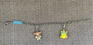 """Ganz Webkinz Charm Bracelet with 2 Charms Zingoz & Poncho Original 8"""""""