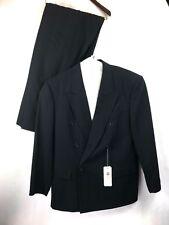 Hugo Boss Chicago Al Capone Black/w Blue Pinstripe Suit Men's 42R W38 NWT W Blem