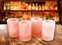 Himalayan Salt Tequila Shot Glass Set(4pcs) - Hand Carved - By Himalayan Secrets