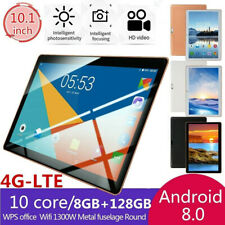"""10.1"""" Ultra-thin 4G-LTE Tablet Android 8.0 PC 8+128GB Dual SIM GPS Camera"""