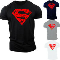 Superman Cracked Logo T-Shirt DC Comics Superhero Justice League Batman Gift Top