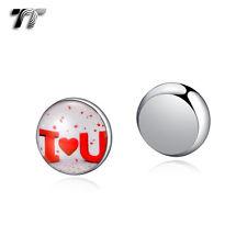 TT 10mm Stainless Steel I Love You Magnet Earrings (bm11)