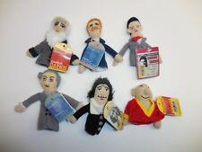 Magnetic Personalities Cloth Finger Puppets Spinoza Darwin Kafka Nietzsche