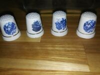 VINTAGE LOT OF 4 Collectable THIMBLES