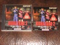 Biohazard 2: Dual Shock - Playstation 1 PS1 PSX Japan Resident Evil II Version