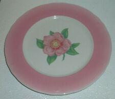 """Shenango Dinner Plate Wild Rose Pink Band Restaurant Diner Ware Vtg 10.5"""""""