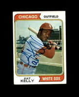 Pat Kelly Hand Signed 1974 Topps Chicago White Sox Autograph
