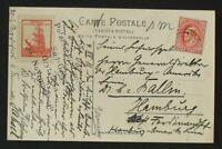 s2121) 2. Dt Antarktisexpedition Postkarte Filchner Unterschrift der Besatzung