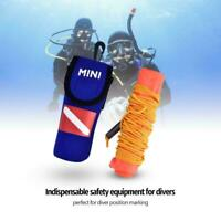High Visibility Inflatable Scuba Diving Surface Signal Marker Buoy PVC 142*16cm