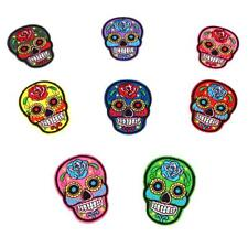 8pcs Iron/sew on Sugar Skull/day of The Dead Motif Embroidery Patch Applique